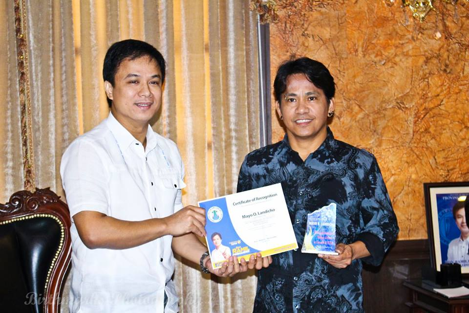 With the Laguna Governor of the Philippines - Ramil Hernandez